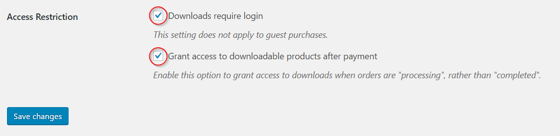 Restricting customer access