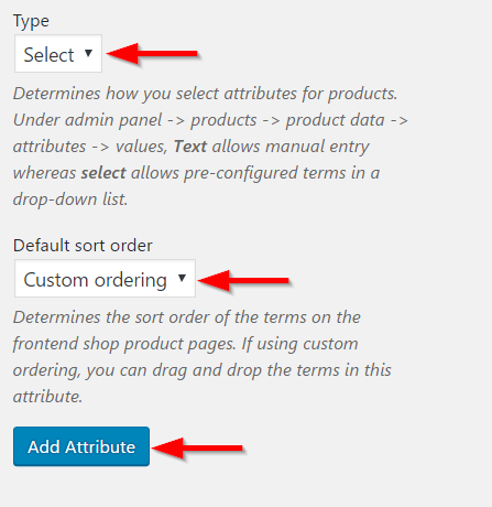 Determining attribute selection