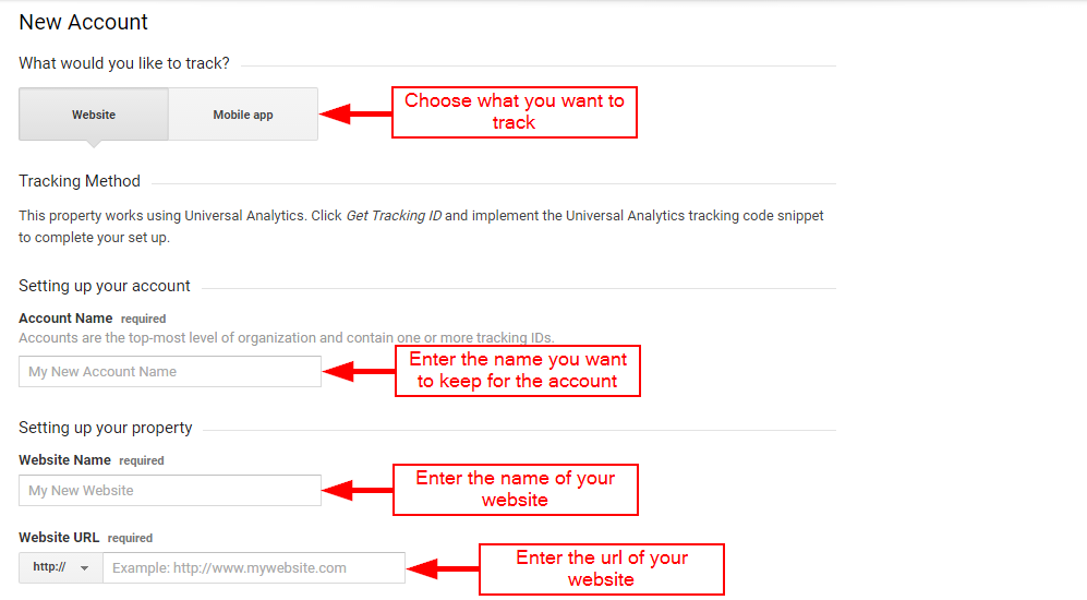Adding site data for Google Analytics