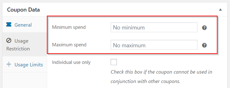 Setting minimum and maximum spend