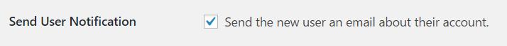 Sending user notification