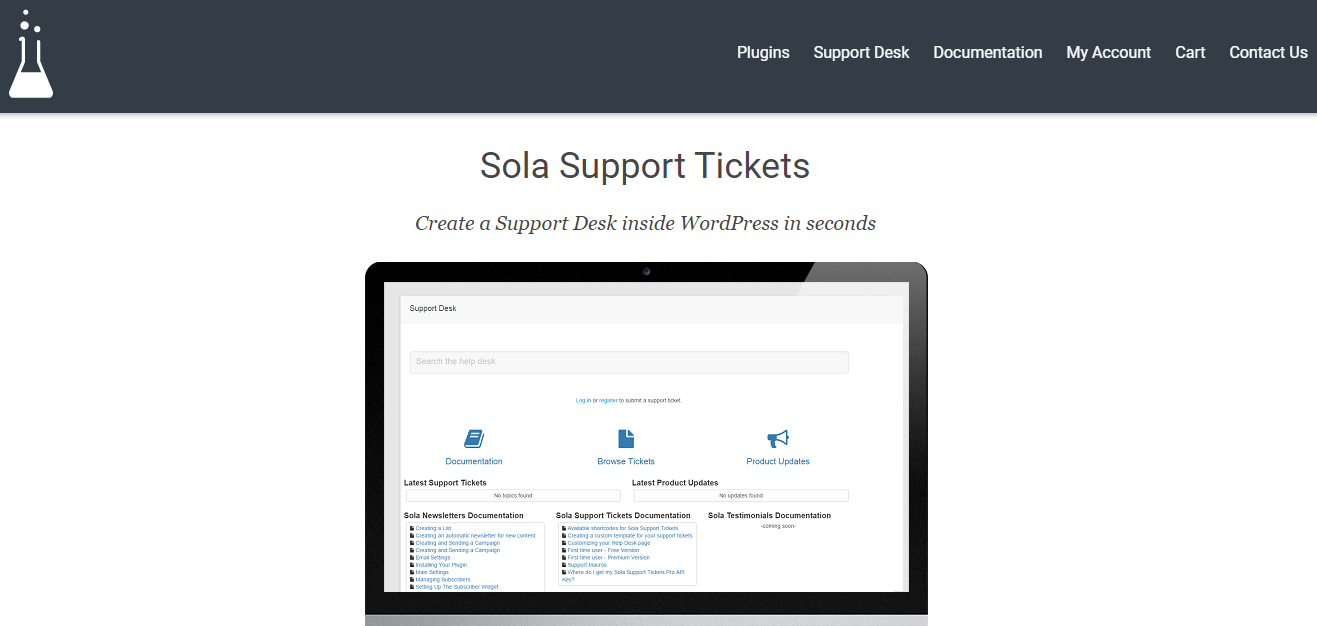 Sola Support Ticket