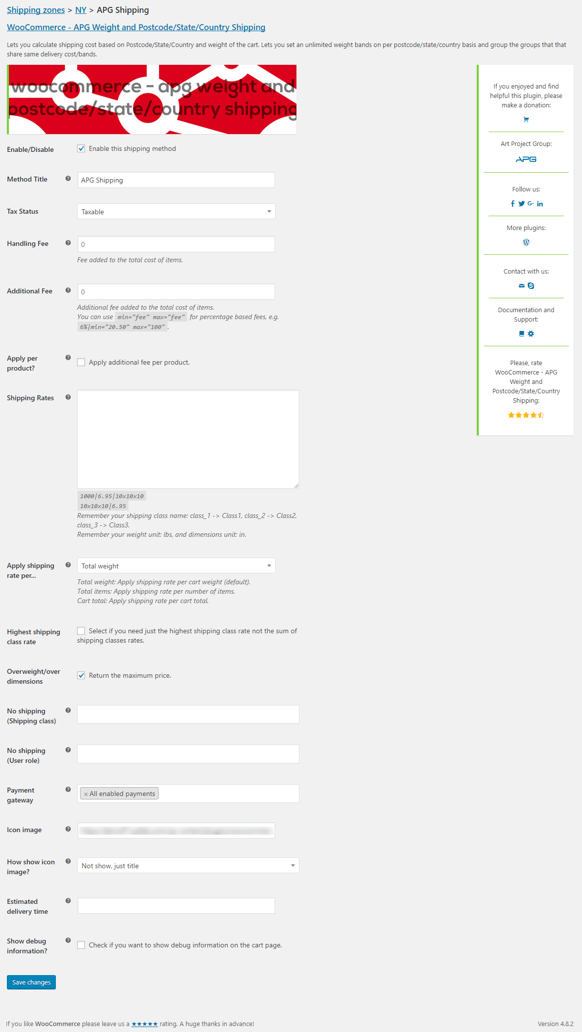You have the option to add additional shipping cost per product with this plugin