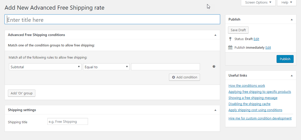 You have the flexibility to set up varied rules with this plugin