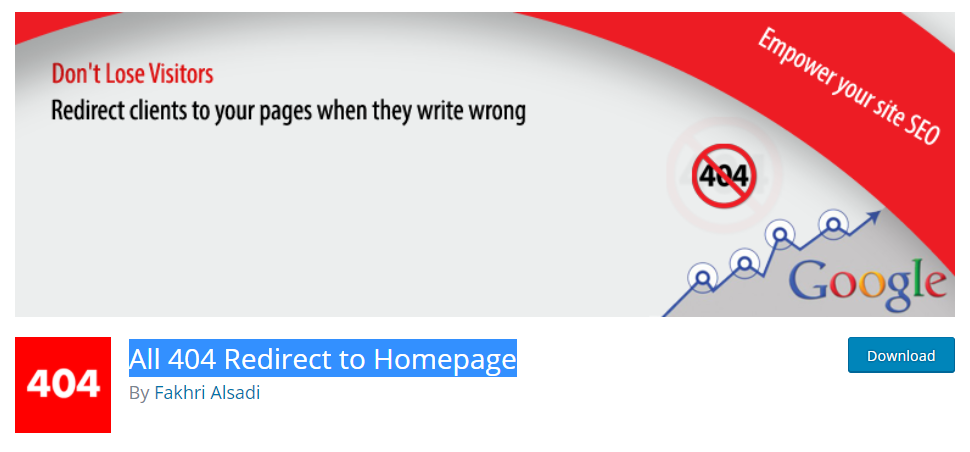 You can forget about 404 errors on your site after installing the plugin