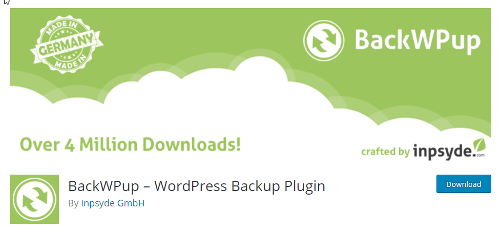You can back up and restore WordPress installation with the free plugin; pro version offers complete database backup