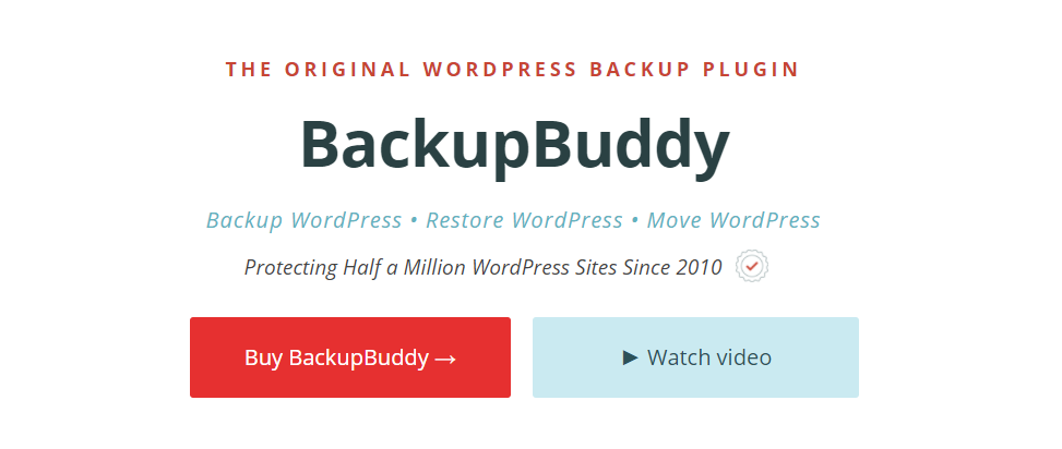 You can backup, restore and move your WordPress site effortlessly using BackupBuddy
