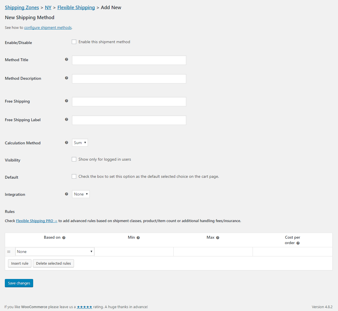 You can create any number of flexible shipping methods using this plugin
