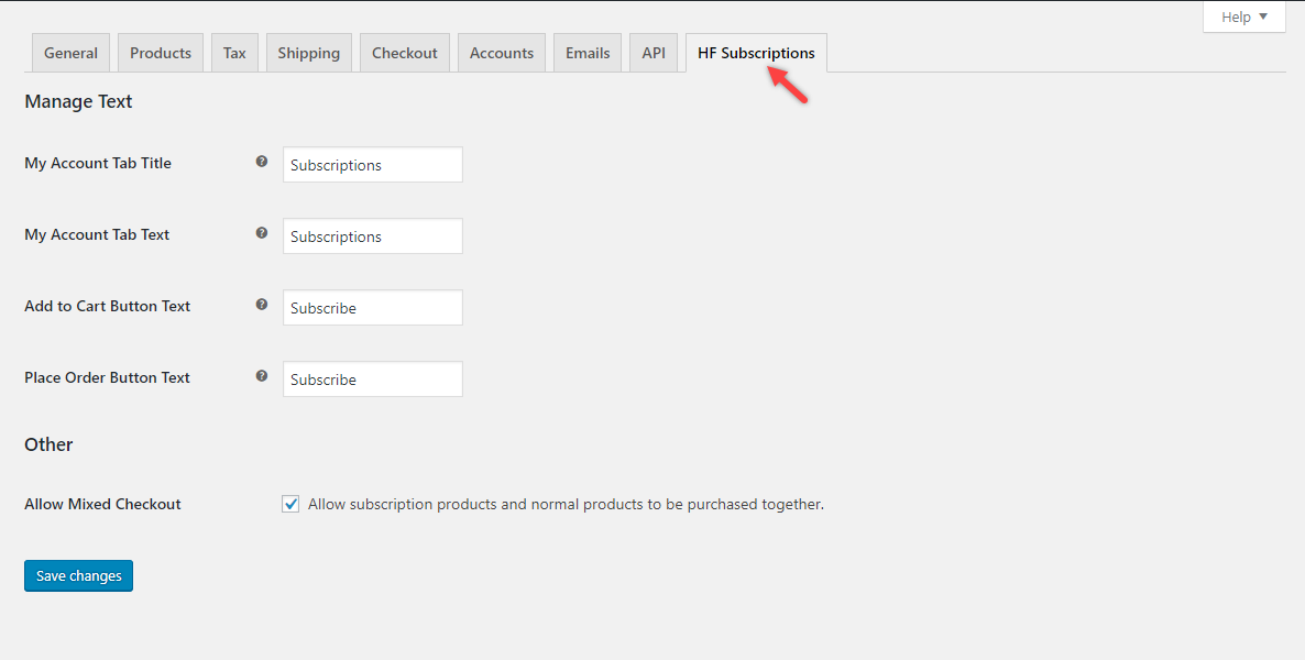 You can set mixed checkout on the plugin settings page.