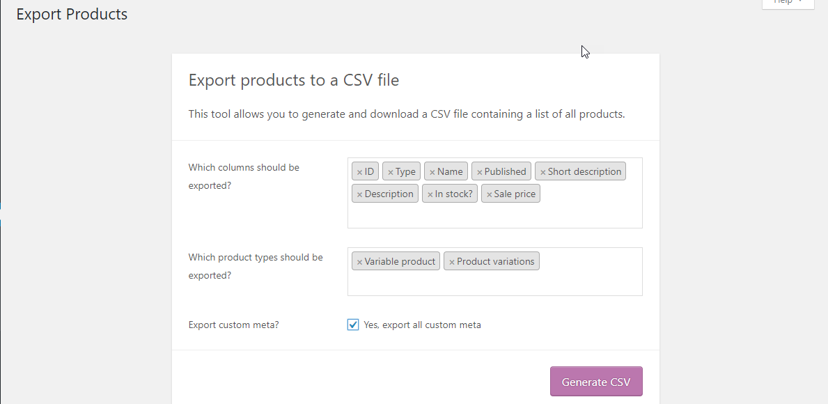How to Migrate Product Data with the WooCommerce in-built