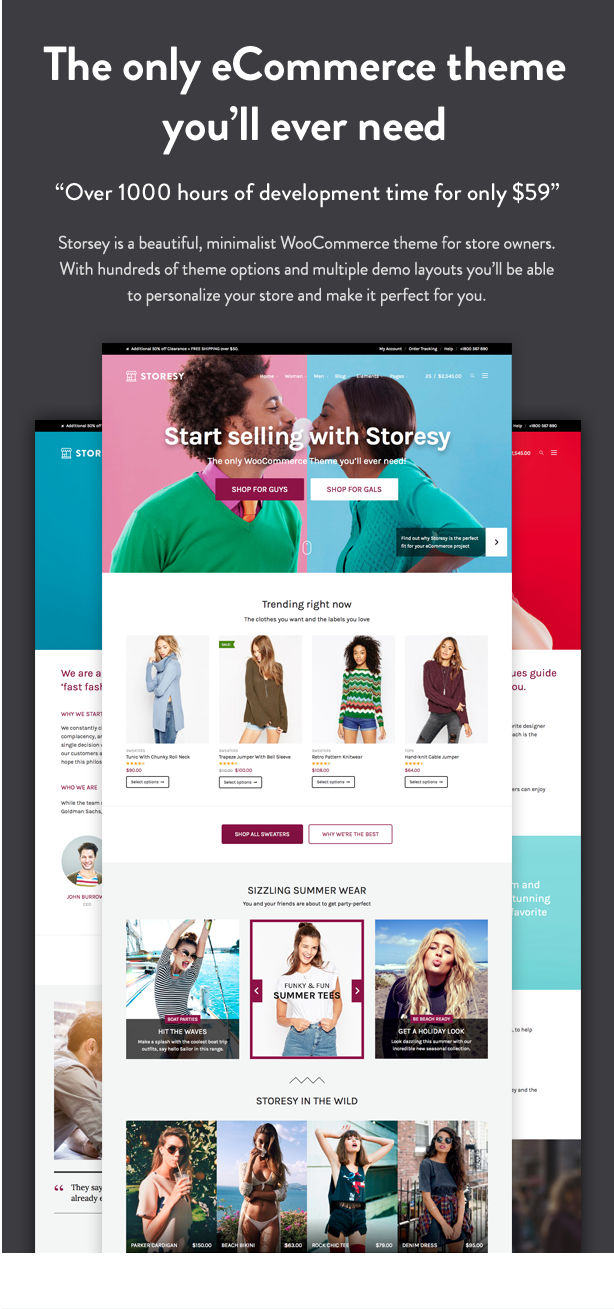 Storesy is a beautiful theme with amazing features for a WooCommerce store