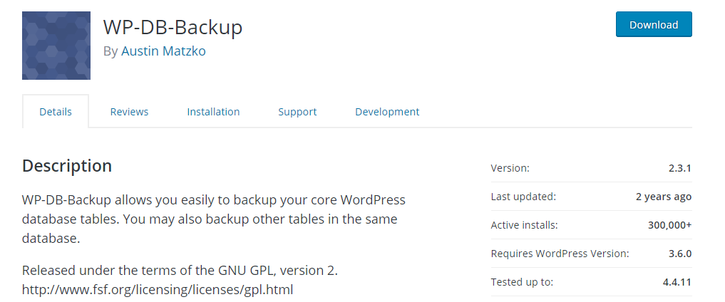 The plugin selects your core WordPress files for backup by default