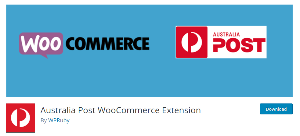 The free extension offers basic Australia Post integration