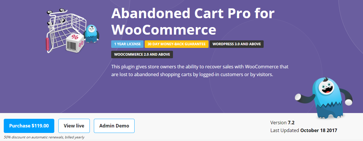 With three built in templates, this plugin helps your abandoned cart email campaign immensely.