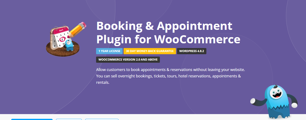 This plugin is an affordable choice to set up varied booking schemes on your site.
