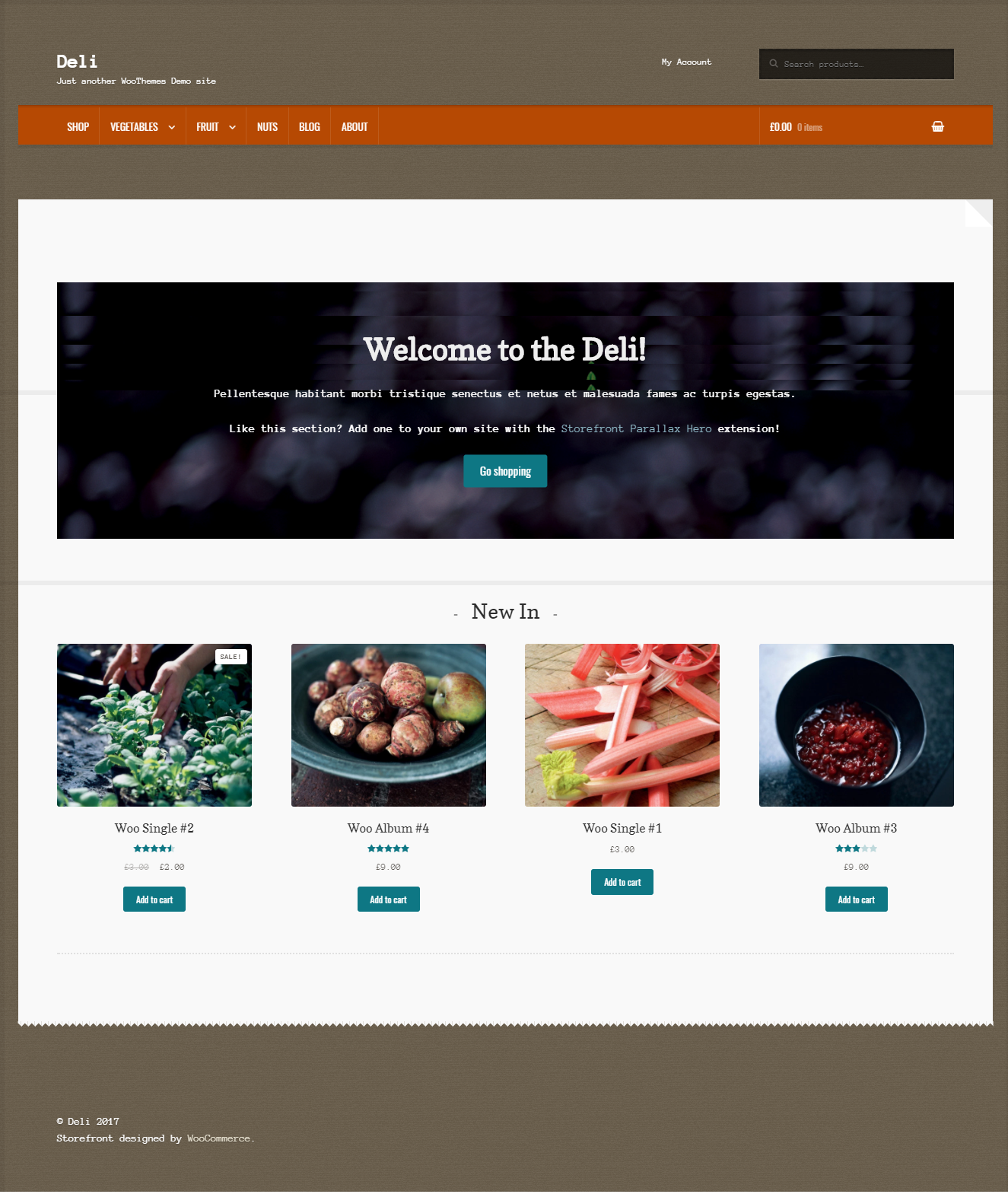 The homepage design is unique and is a great option if you are selling natural products on your store.
