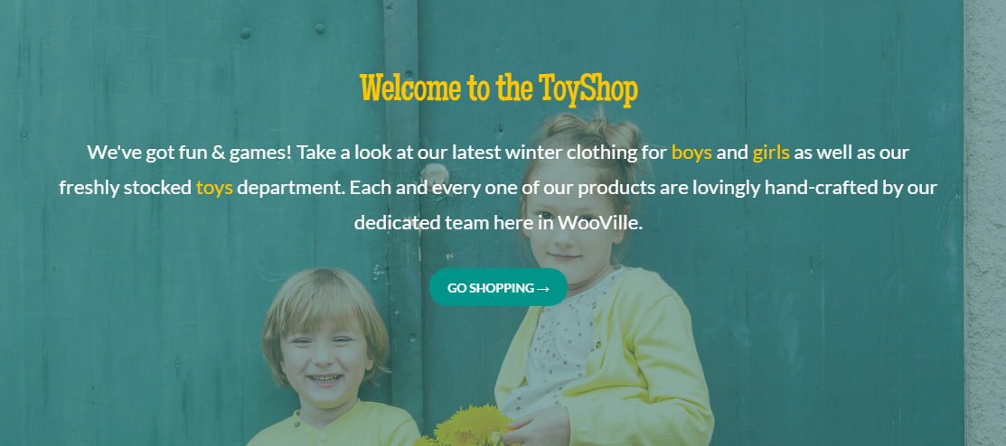 Toyshop has an eye-catching design that is easily connected to kids