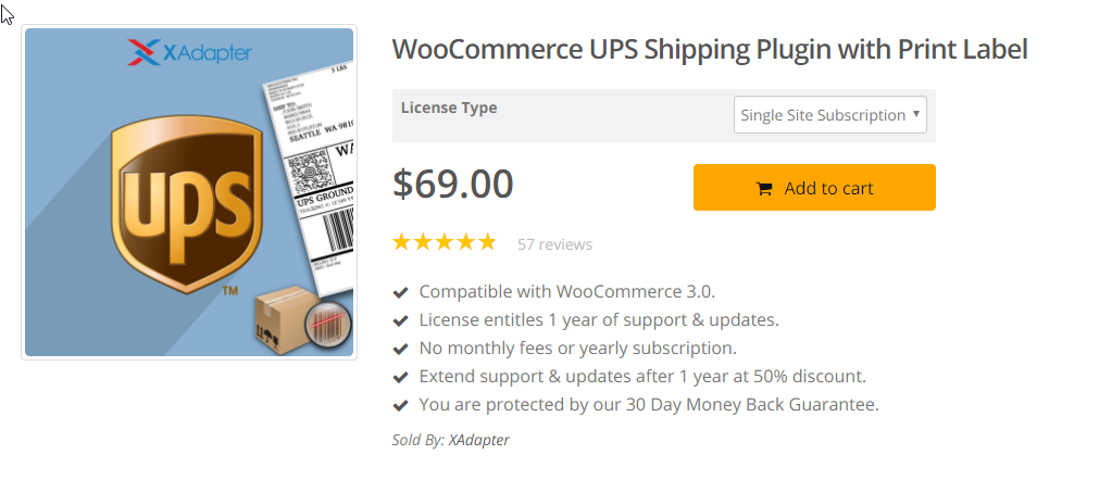 Image of WooCommerce Shipping plugin for UPS