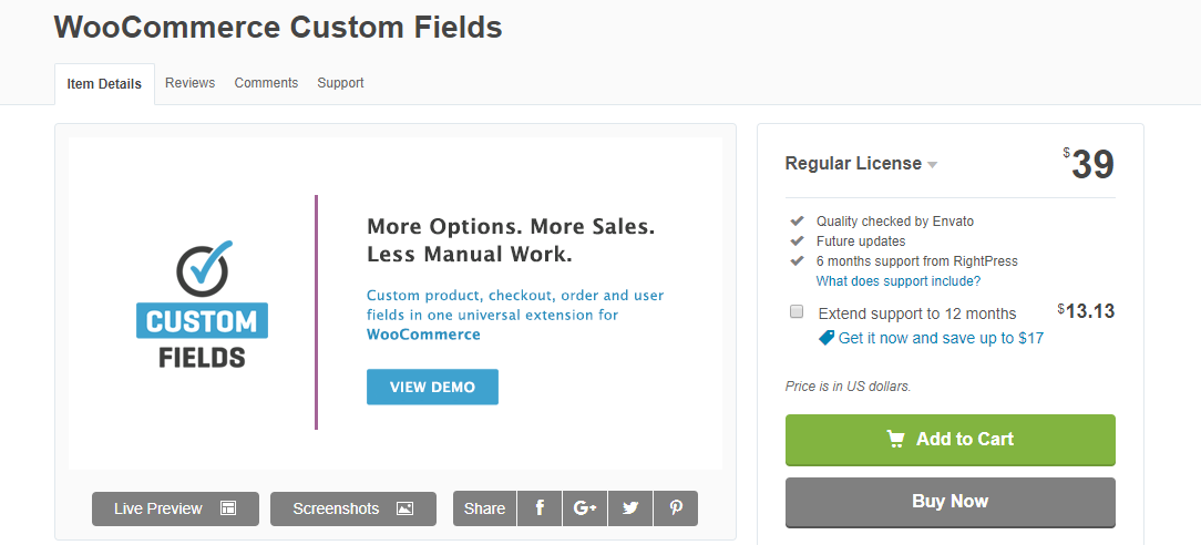WooCommerce Custom Fields to Manage Additional Information