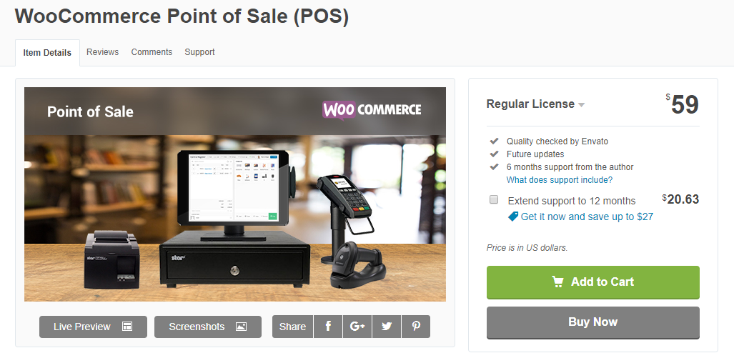 Image of Envato WooCommerce Point of Sale Plugin
