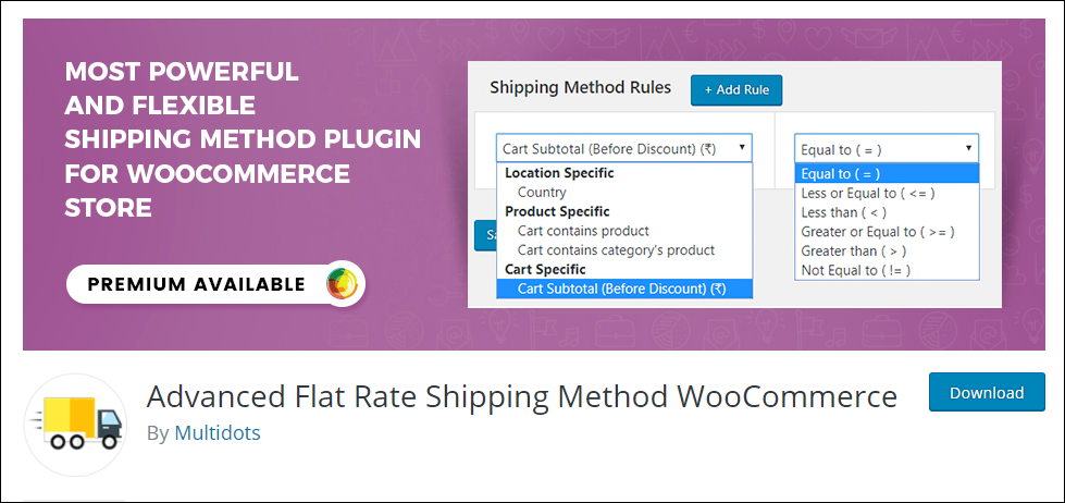 WooCommerce Free Shipping | Advanced Flat Rate Shipping Method WooCommerce