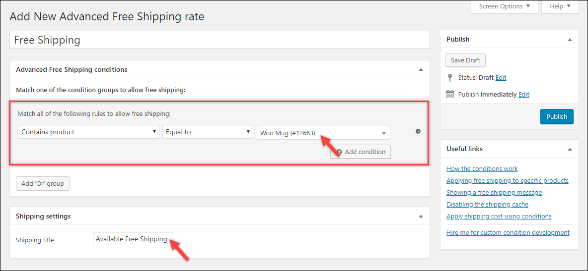 WooCommerce Free Shipping | WooCommerce Advanced Free Shipping plugin settings