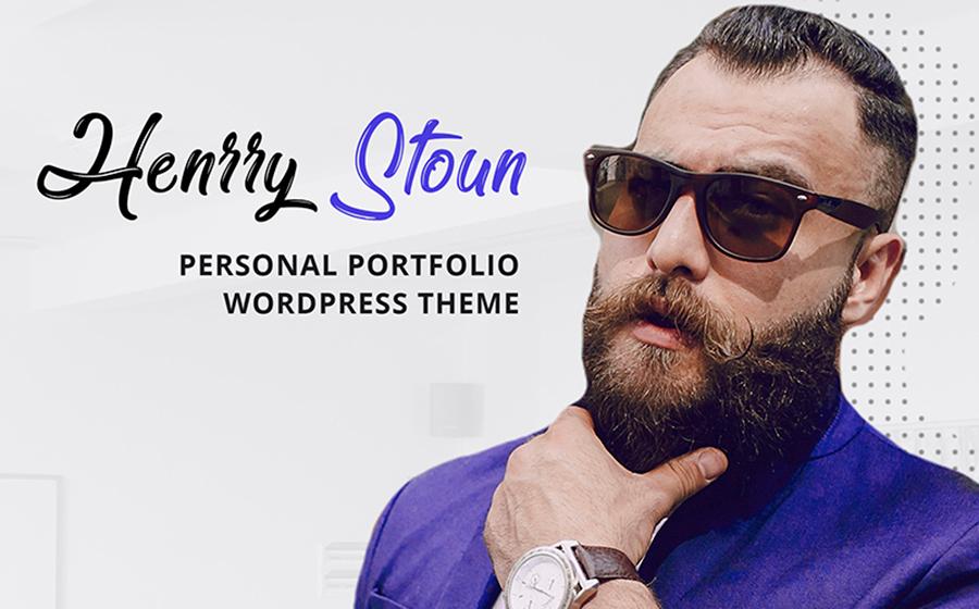 Henry Stoun - Personal Website WordPress Theme