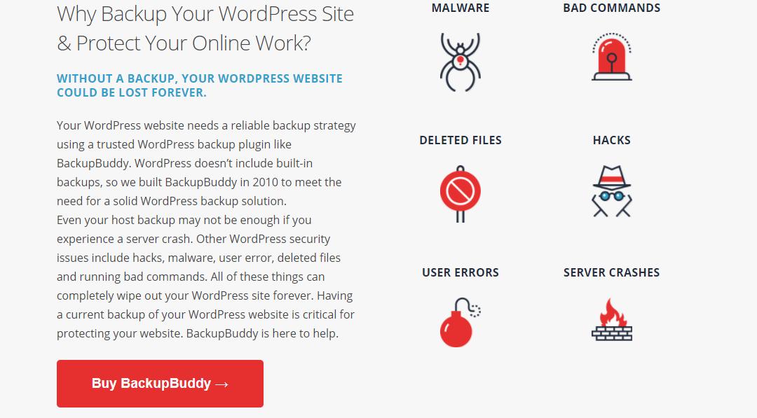 Image depicting the story of BackupBuddy WordPress Backup Plugin