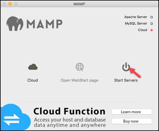 Installing WordPress | Starting Apache & MySQL service in MAMP