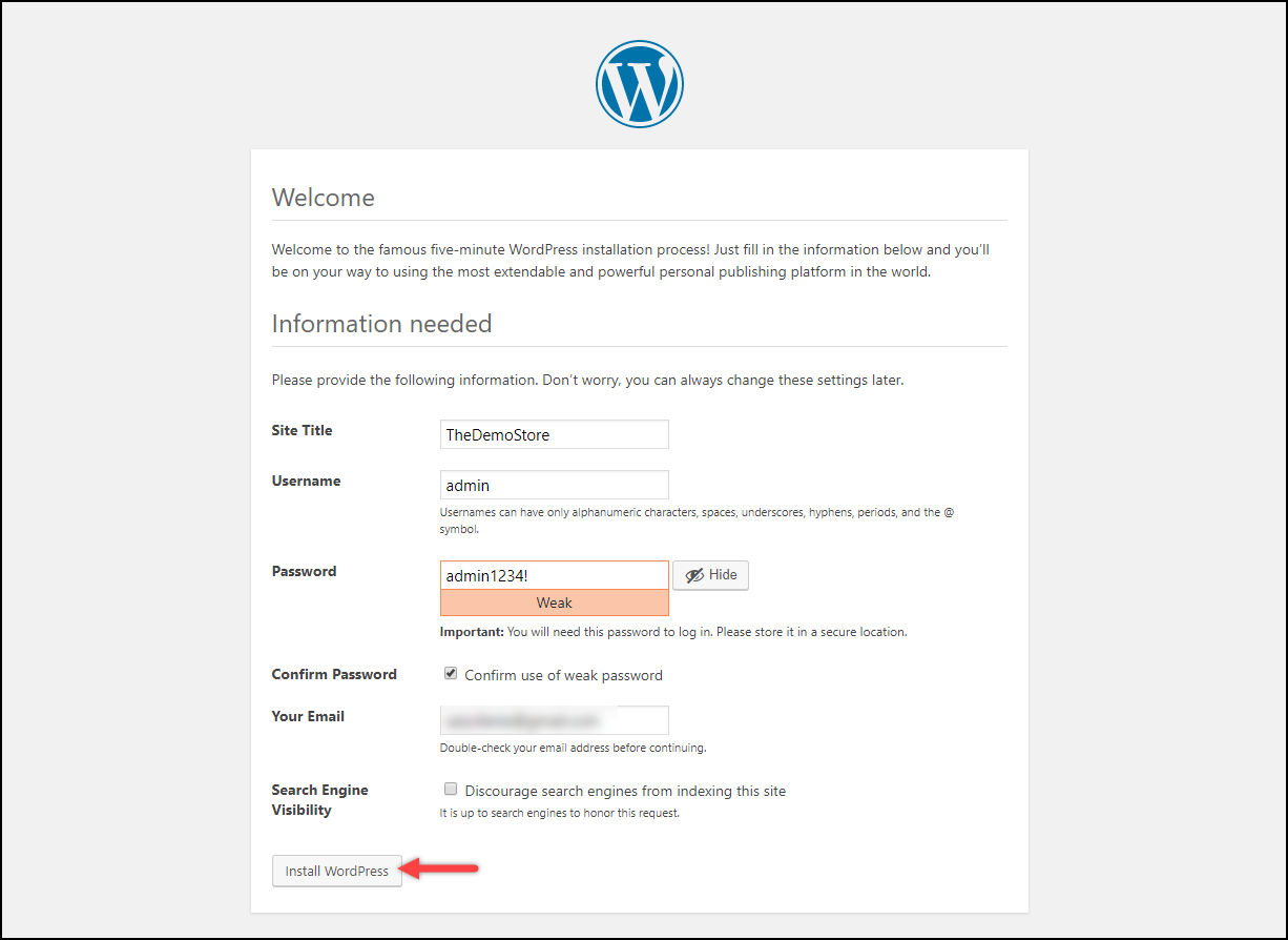 Installing WordPress on Windows | WordPress Quick Setup Wizard