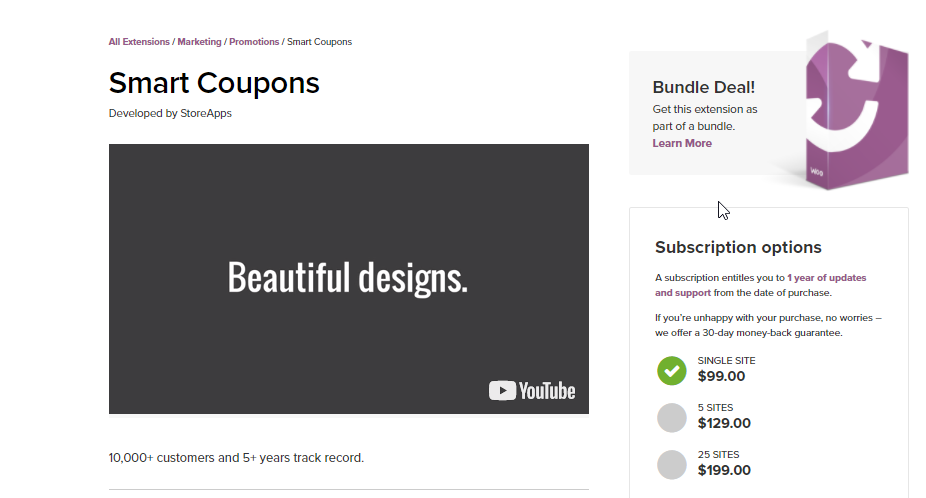 Image for WooCommerce Smart Coupons, a solution to help with WooCommerce gift card