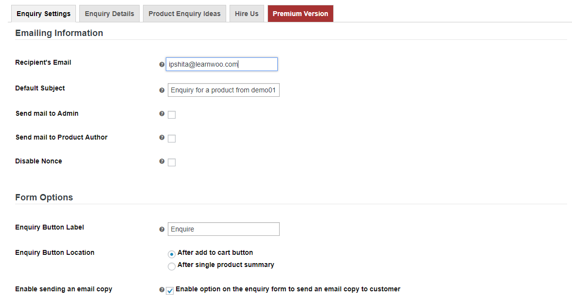 Product Enquiry Pro