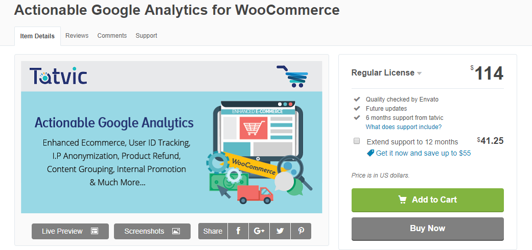 Image depicting Actionable Analytics for WooCommerce plugin