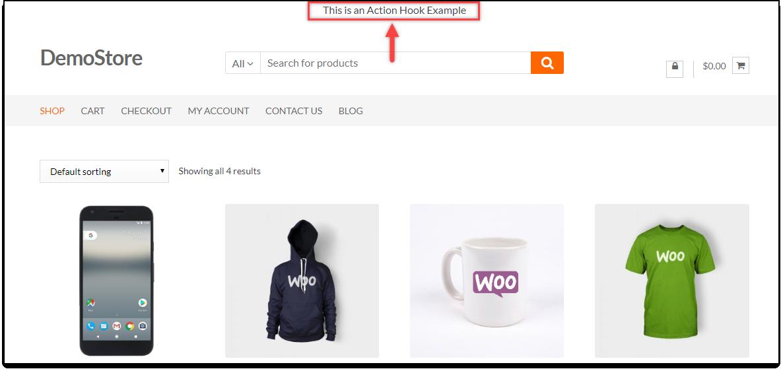 WordPress Hooks | Action hook example