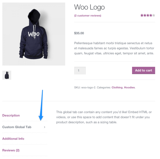 screenshot of Tab Manager for WooCommerce Store Management