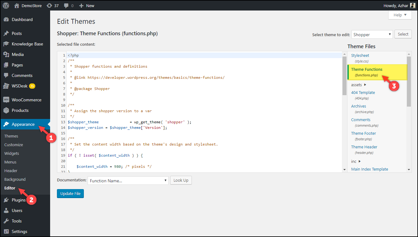 Updating Code snippets WordPress WooCommerce | functions.php file